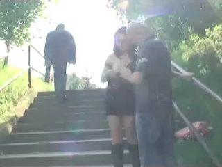Truck Driver In A Public Park groping And Fucking Street Hooker Regardless Of People Passing By