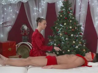 Special Christmas Massage With Happy End