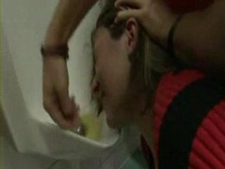 Wasted  Chick Violated and Anal Fucked In Public Toilet