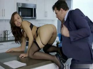 Lucky Businessman Sealing The Contract About Babysitting With Hard Anal Fuck