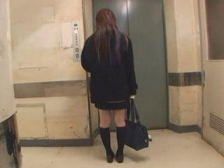 Japanese Schoolgirl Should Never Enter That Elevator