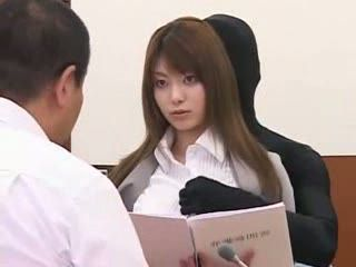 Japanese Lawyer Fucked In Court By Demon from her Dreams
