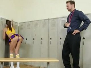 Naughty Cheerleader Teen Should Watch Her Back More Carefully
