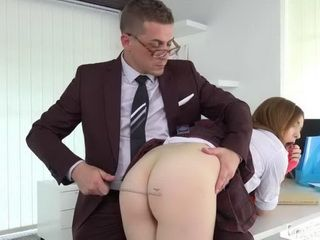 Naughty Schoolgirl Gets A Spanking For His Inappropriate Behavior