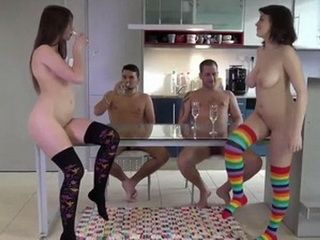 A Small Party With Two Naughty Girls Turned Up Into Real Orgy