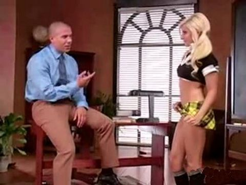 Cute Schoolgirl Was Punished By Her Teacher