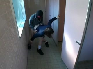 Japanese Teen Coed Schoolgirl Gets Fucked In Public Toilet By Masked Guy