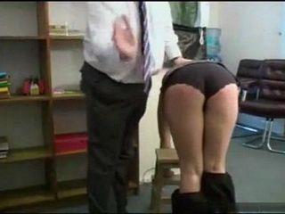 Naughty Teen Get Her Ass Spanking