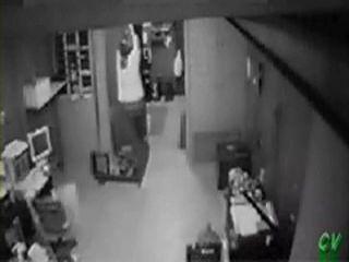 Security Cam Tapes Door Humper Girl At Work