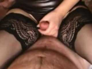 Amateur Handjob And Anal Fucking With Cum in The Butt