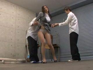 Hot Business Milf Reiko Kobayakawa Blackmailed and Violated at the Garage