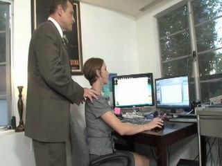 Bosses Misbehavior To His New Secretary Ends Up With Hard Sex At His Place