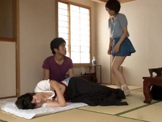 Daughter Ayumi Takanashi Gets Fucked While Her Sick Mother Sleeps