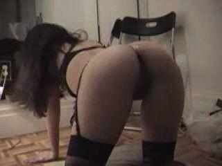 Amateur Girlfriend In Stockings Anal Fuck