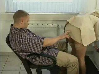 Mature Secretary Turns Office Lamb Boy Into a Beast