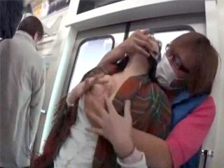 Busty Japanese Girl Gets Attacked And Force Fucked In A Train In Front Of All The Passengers