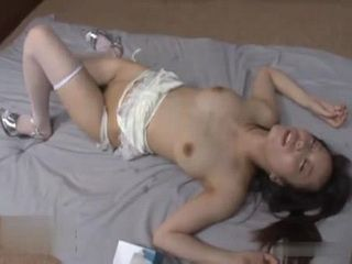 Japanese Teen Kawana Misuzu Gets Tied Up Fucked Like A Bitch And Left To Lie Down Covered With Sperm