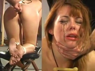 Bound Slut Gets Some Painful Anal Discipline