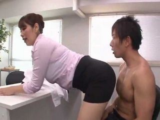 Guy Was In Shock After He Realized What Milf Boss Shota Chisato Wants From Him On Job Interview