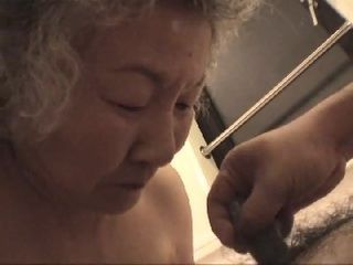 Old Japanese Granny Getting Fucked By Young Guy Uncensored