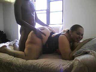 Big Booty Amateur Ebony Slammed Hard From Behind