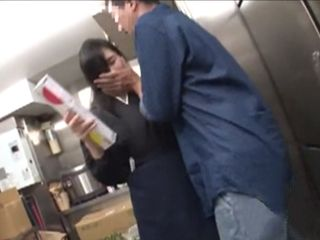 Totally Horny Guest Molesting Poor Worker In Some Coffee Shop
