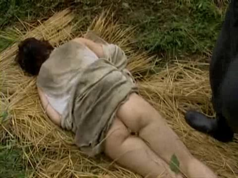 After a Short Fight Unconscious Village Woman Gets  Fucked In The Field