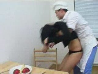 Teen Gets Roughly Fucked In Kitchen
