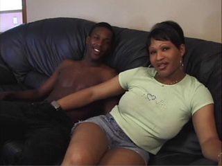 Hot Ebony Shemale Gets Fucked By Black Guy