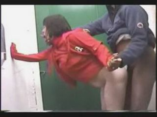 Couple Fucking in A Public Toilet Not Knowing They Were Being TAped