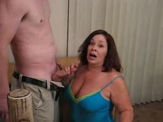 Chunky Mature Wife Got Busted By Husband While Giving Blowjob To Other Guy