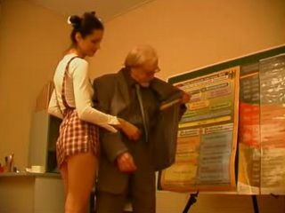 Immodest Schoolgilr Fucks Her Old Teacher