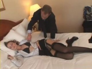 Exhausted Sleeping Business Milf Gets Fucked at Motel By Waiter