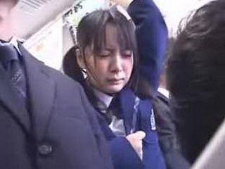 a schoolgirl fingered in bus