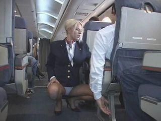 CFNM Blond Flight Attendant