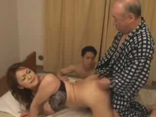Horny Grandpa Trashing Grandsons Girlfriend While He Is Watching
