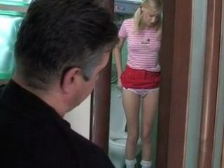 Pervert Stepfather Spying His Stepdaughter In The Bathroom