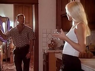 Guy Gets So Hard On While Watching Wifes Beautiful Best Friend Drinking Wine In Theirs Kitchen