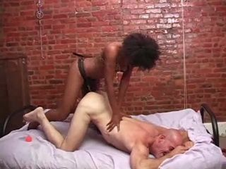 Sexy Ebony Girl Fucks White Guy With Strap On Hard