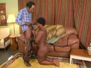 Hot Ebony MILF Gets Fucked By Old Black Guy