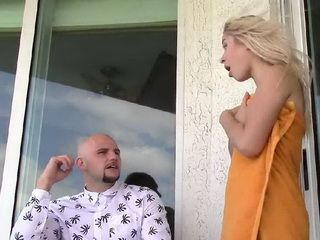 Sly Stepbrother Get On A Balcony To Spy On His Hot Stepsis