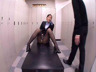 Japanese Businesses Wife Caught Masturbating In The Locker Room