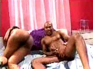 Ebony American Woman Ride Big Husbands Dick