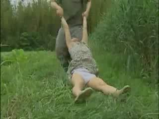 Village woman dragged into bushes and violently fucked