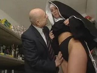 Grandpa wanna Touch Young Nuns Pussy