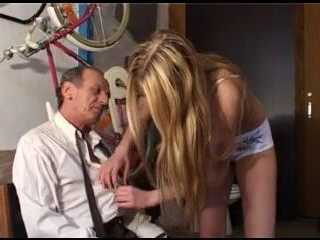 Horny Teen Get Home Old Drunk Grandpa And Starts Groping Him