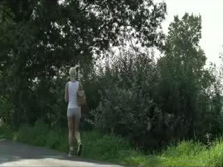 Sexy Teen Will Regret Hitchhiking Today