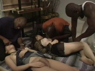 2 Chloroformed Sleeping Japanese Girls Gets GangFucked By 3 Black Guys