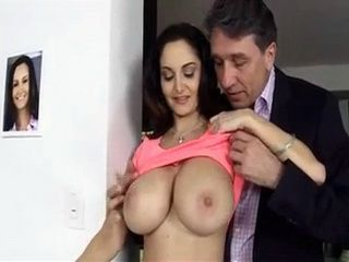 Old Man Is Obsessed With Busty Maids Boobs