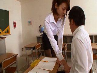 Horny Teacher Tsukasa Mikoto Seduces and Fucks Shy Student